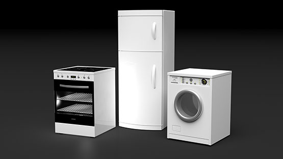 set of electrical appliances
