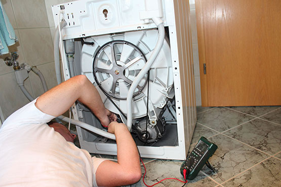 checking and repairing washing machine