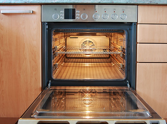 electrical oven in the client house